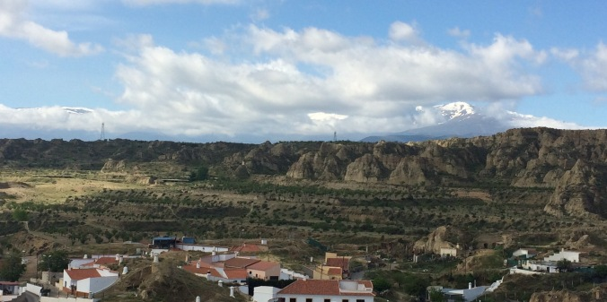 The Sierra Nevada from Guadix