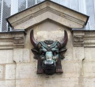 Intense Egyptian bull head in Paris