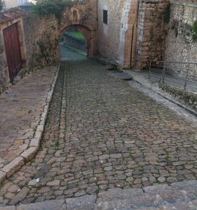 Cobbled laneway Spain